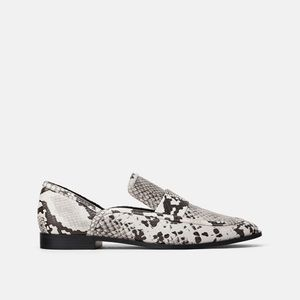 NWT • Zara • Animal Print Loafers